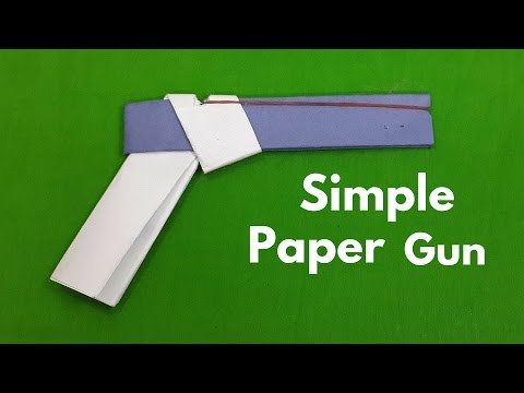 How to Make a Simple Paper Gun That Shoots Rubber Bands (With Trigger)
