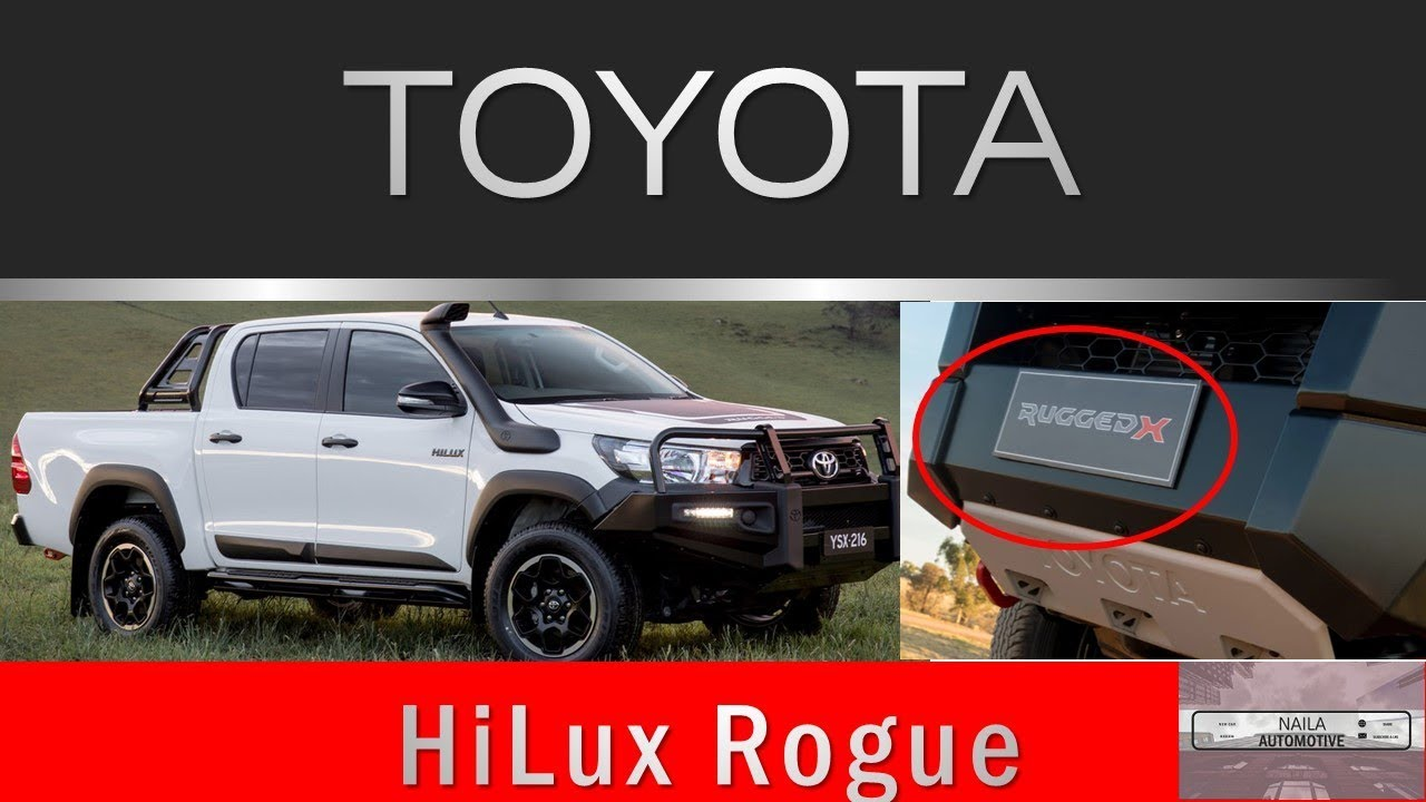 2018 toyota hilux rogue interior exterior for australia youtube. Black Bedroom Furniture Sets. Home Design Ideas