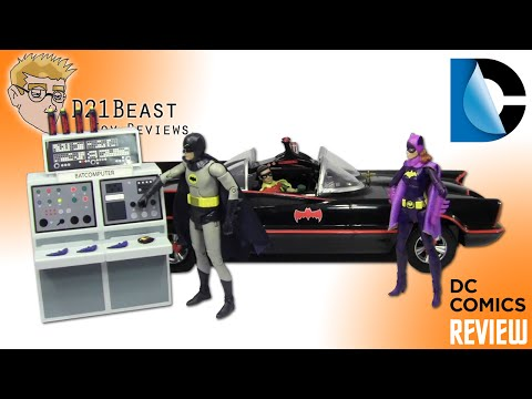 """Batman '66 (The Television Series) """"Batmobile"""" and """"To The Batcave"""" Playset Review"""