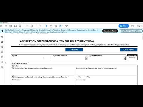 Temporary Resident Visa (Visitor Visa Or TRV) From Inside Canada How To Apply Step By Step