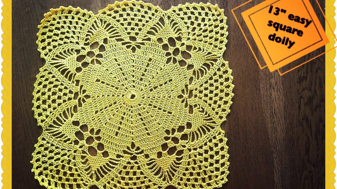 How to crochet 13 easy square doily youtube how to crochet 13 easy square doily bankloansurffo Gallery