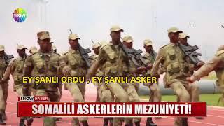 Somalili askerlerin mezuniyeti!