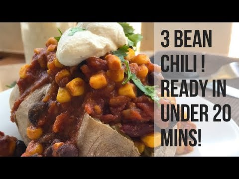 One Pot, 3 Bean Chili that is FAST & DELICIOUS!