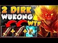 I CAN'T BELIEVE THIS WORKED! DOUBLE DIRK WUKONG TOO TROLL? WUKONG TOP GAMEPLAY! - League of Legends