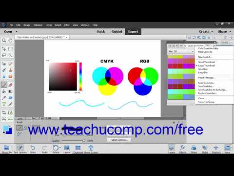 Photoshop Elements 2019 Tutorial Selecting Colors With The Swatches Panel Adobe Training
