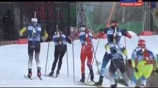 Фуркад подрезал Гараничева в гонке чемпионов на эстафете 5 04 2015