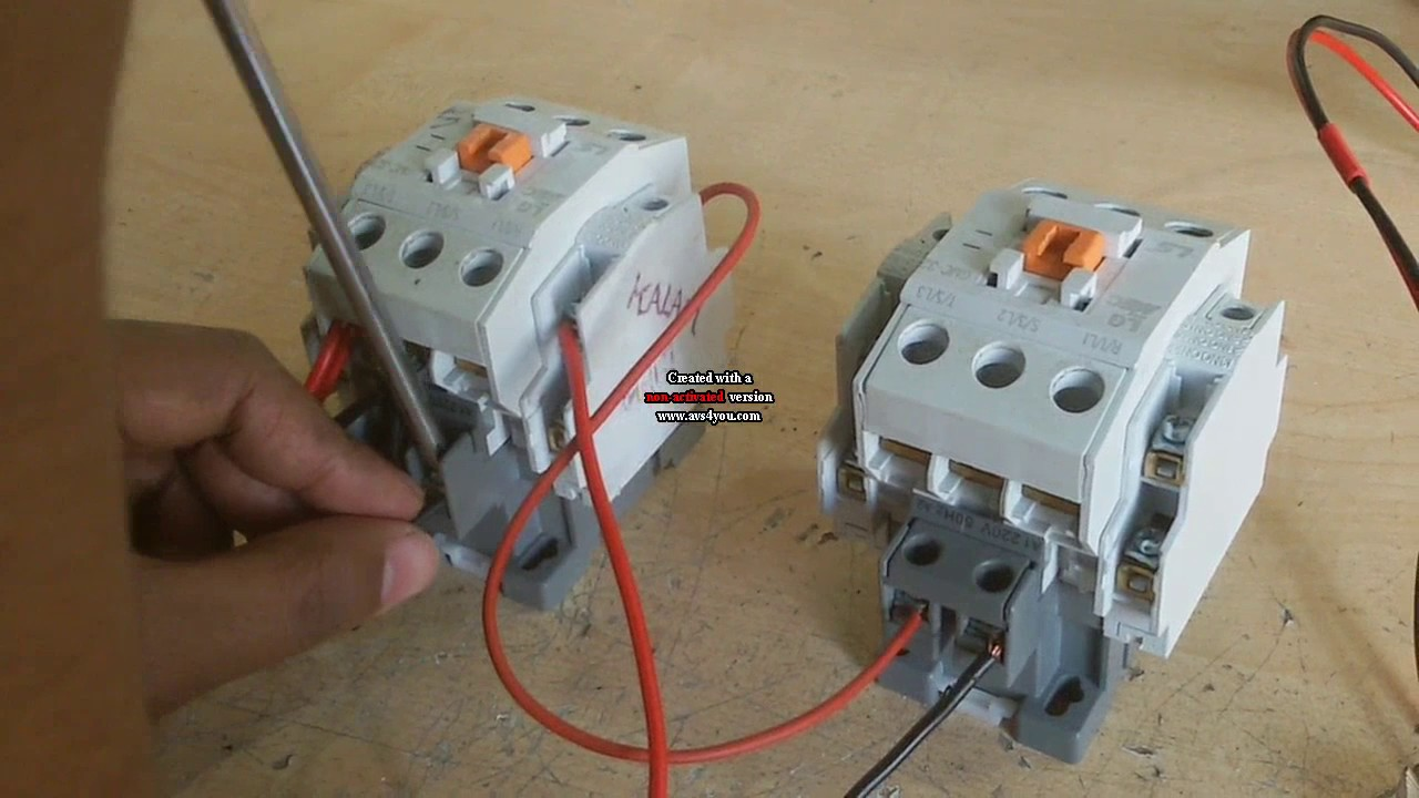 Abb Reversing Contactor Wiring Diagram How To Make Auto Change Over Switch Without Relay Youtube