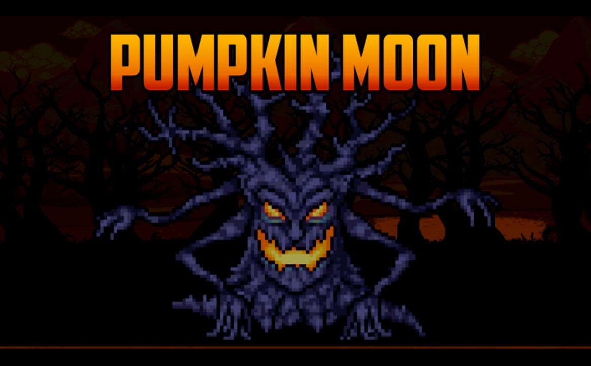 terraria - pumpkin moon event, how to summon and basics - youtube
