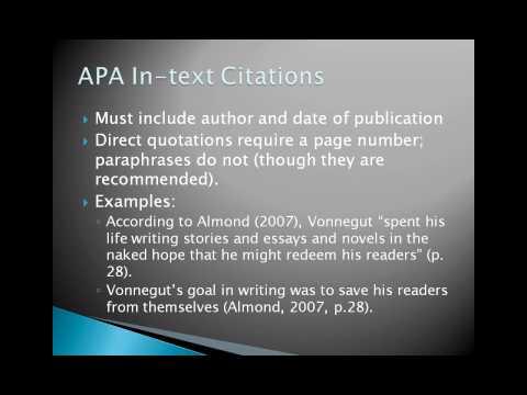 When do you use APA and MLA?