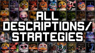 FNAF Ultimate Custom Night: ALL Character Descriptions And Strategies
