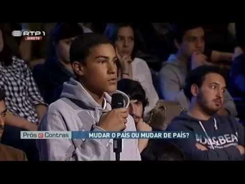 """Rapaz de 16 anos destrói doutorada em directo no """"Prós e Contras"""" da RTP"""