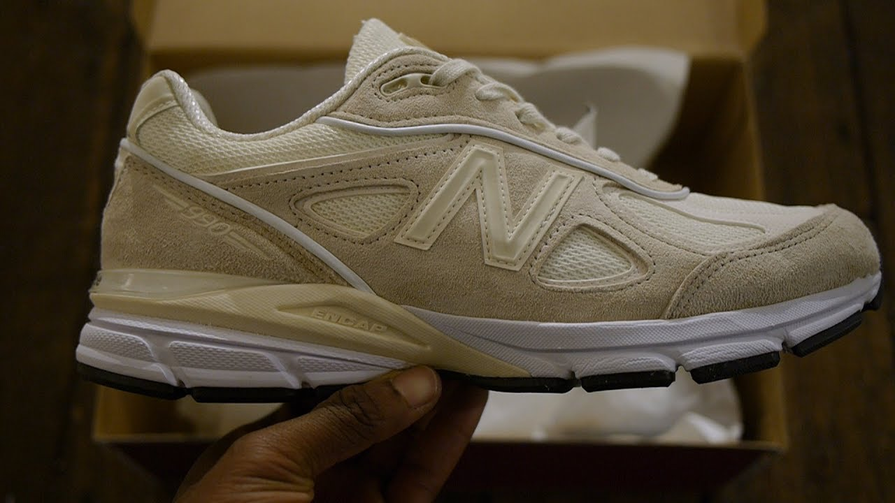 online retailer 7ee35 0237c New Balance x Stussy 990v4 Quick Look + On Feet (Stussy Cream)