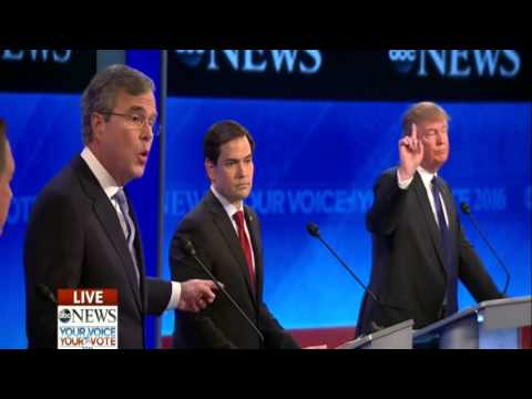 Donald Trump vs. Jeb Bush HEATED Exchange on Eminent Domain at New Hampshire Debate