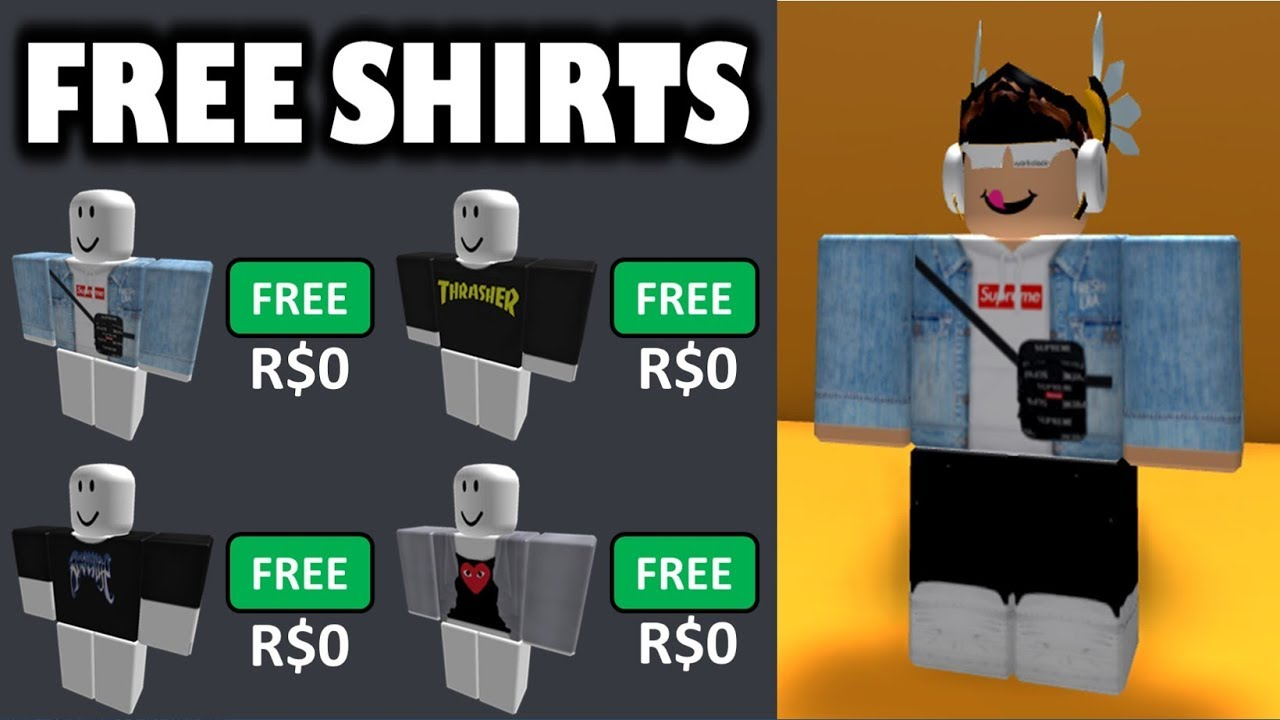 How To Get Best Shirts On Roblox For Free Free Clothing Store