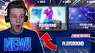 """NEW """"PLAYGROUND"""" LTM UPDATE COMING SOON! - Playground Game Mode in Fortnite: Battle Royale"""