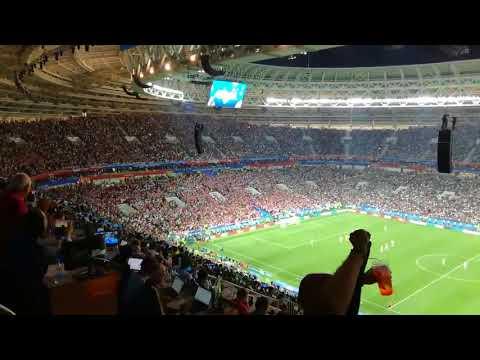 England Trying To Score When Croatia Were Celebrating Goal