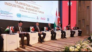 TAJIKISTAN – TURKEY INDUSTRIAL BUSINESS FORUM   ПРОМЫШЛЕННЫЙ БИЗНЕС-ФОРУМ ТАДЖИКИСТАН-ТУРЦИЯ