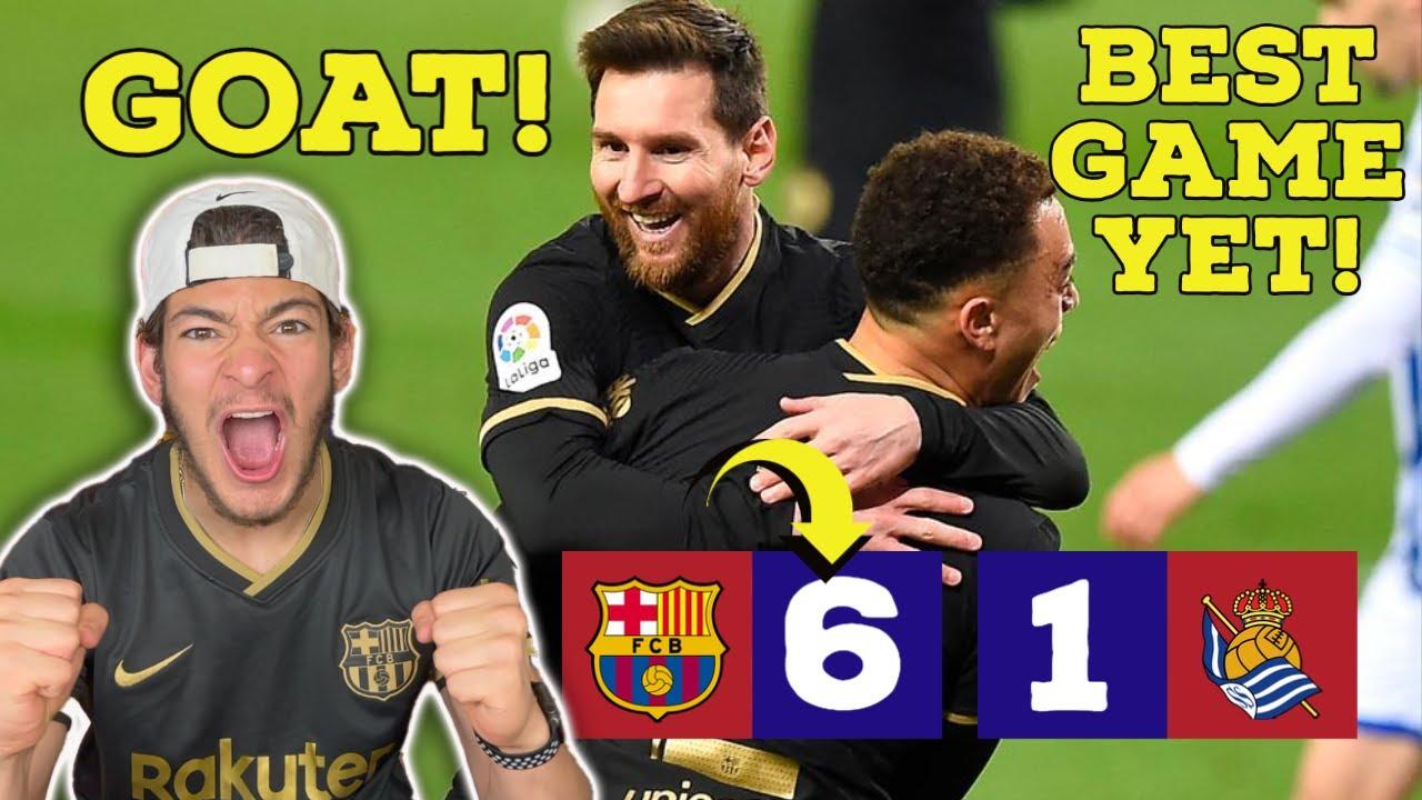UNSTOPPABLE BARCELONA WILL WIN LA LIGA (Barcelona 6-1 Real sociedad) DEST MVP