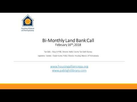 Land Bank call 2 16 2018