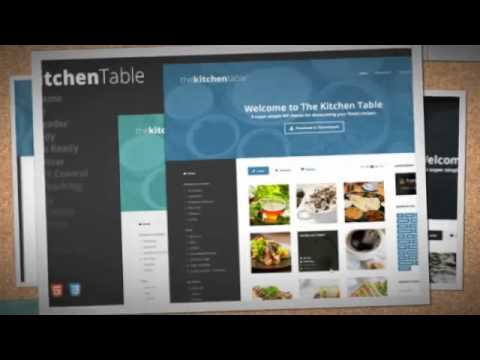 The Kitchen Table: Responsive Recipes WP Theme Download