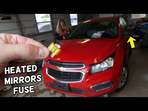 CHEVROLET CRUZE SIDE HEATED MIRRORS FUSE LOCATION REPLACEMENT. SIDE MIRRORS DEFOGGER NOT WORKING