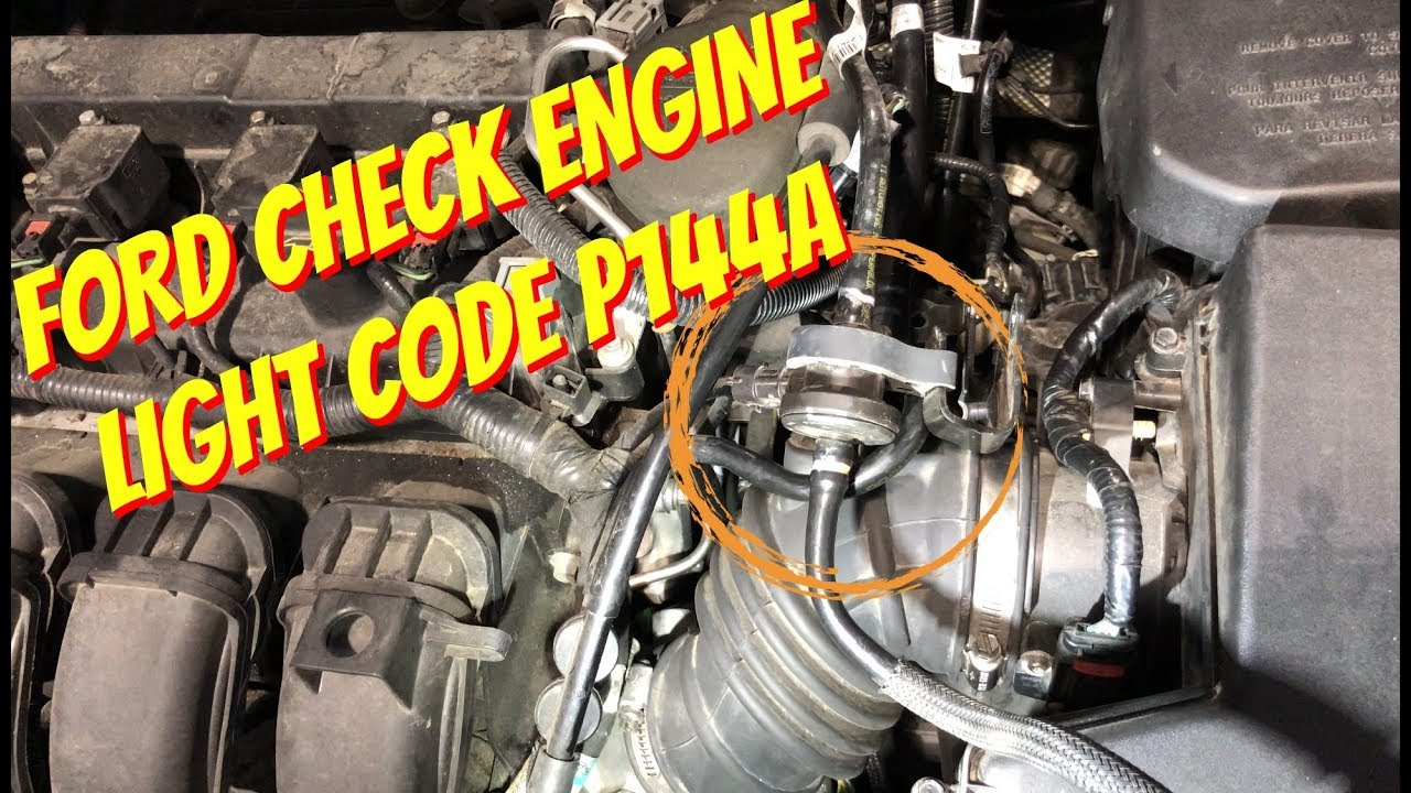 small resolution of ford focus check engine light code p144a evap purge valve
