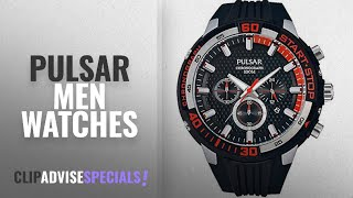 10 Best Selling Pulsar Men Watches [2018 ]: Pulsar Mens Chronograph Rubber Strap PT3697X1