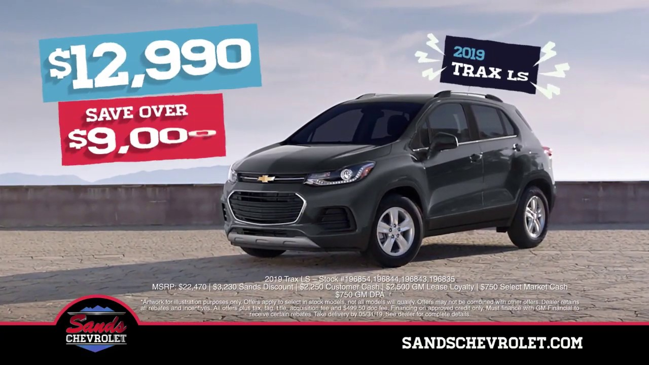 Chevrolet Sonic And Trax Memorial Sales Specials In Arizona At Sands Chevrolet
