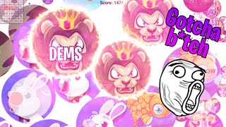 DEMS BEST BLOB.IO MOMENTS/SPECTACULAR DOUBLESPLITS AND SOLO TEAM DESTROYING (Agar.io)