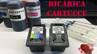 RICARICARE CARTUCCE INKJET BLACK PG-540 COLOR CL-541 CANON MG3600 [TUTORIAL]