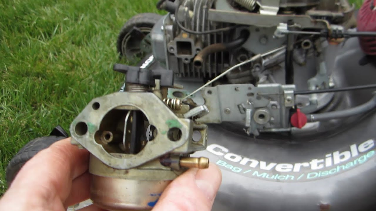 honda harmony ii hrt 216 sda carburetor cleaning lawn mower repair rh youtube com honda lawn mower carb diagram Honda Engine Carburetor
