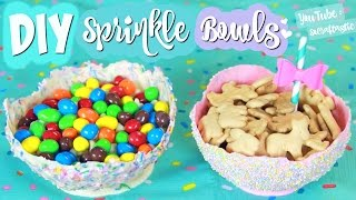 DIY Sprinkle Bowls // Easy Chocolate Balloon Bowl How To