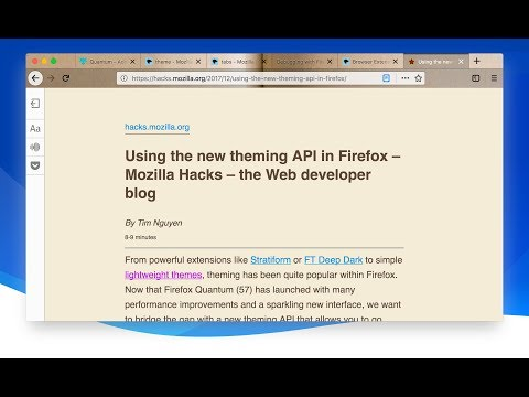 Dynamic Themes in Firefox - YouTube