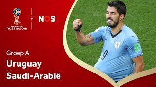 WK Voetbal 2018: Samenvatting Uruguay - Saudi-Arabië (1-0)