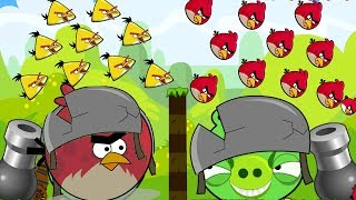 Angry Birds Collection Hacked 2 - HUGE PIGS GOT KICKED BY 1000 RED AND CHUCK!