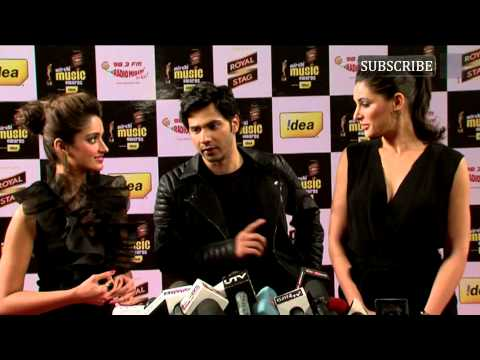 Varun Dhawan, Nargis Fakhri, Ileana D'Cruz | Mirchi Music Awards | 2014