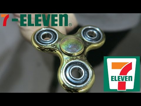 7-ELEVEN FIDGET SPINNER Unboxing/Review GOLD PLATED!!!