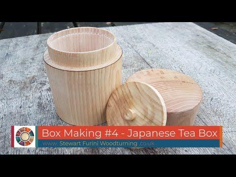 Woodturning - Box Making #4 - Japanese Tea Box