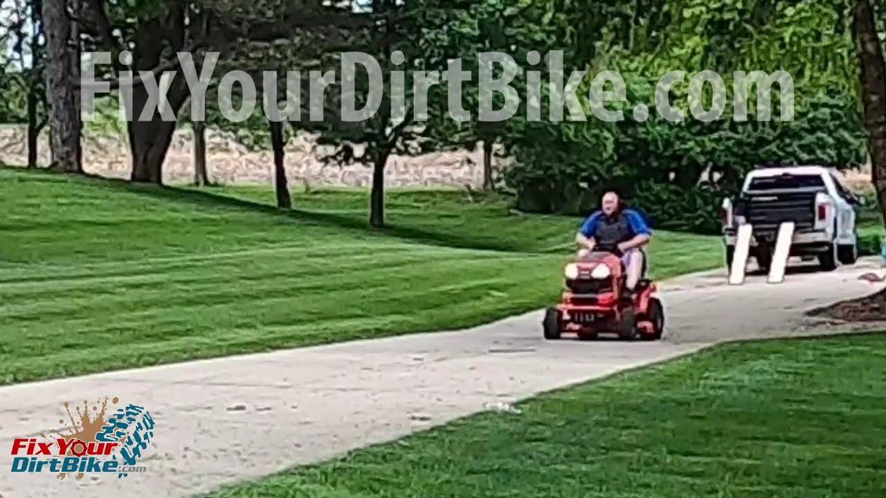 Fatty Fatty Boombalatty Loops Out A Lawnmower | Fix Your Dirt Bike