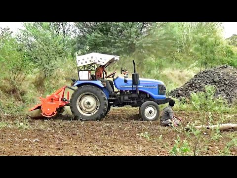 Cultivation by SONALIKA DI 47 Tractor of small agricultural land