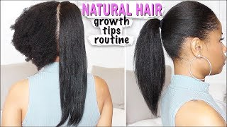 NATURAL HAIR ➟ Growth Tips, Length Check, How to Avoid Heat Damage!