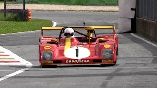 1972 ferrari 312 pb 3 0l flat 12 sound warm up fly bys