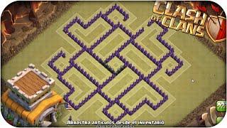 Clash Of Clans - Ayuntamiento nivel 8 - Diseño de aldeas (ANTI-3 ESTRELLAS) - Dopind€R
