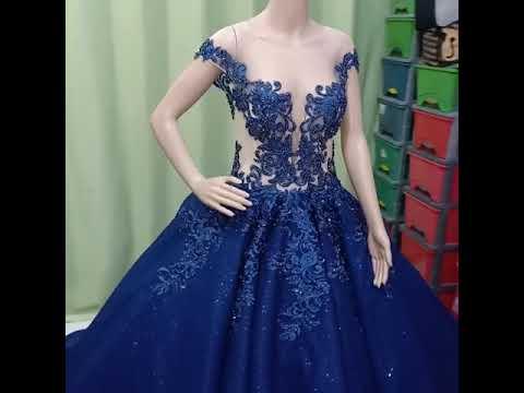 Gaun Pengantin Cantik Navy Blue Youtube