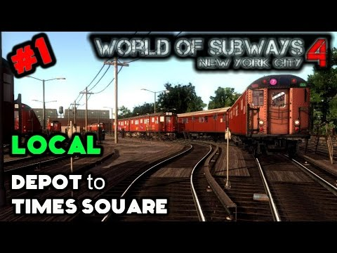 World of Subways 4 Lets Play #1 | Local Service: Depot to Times Square