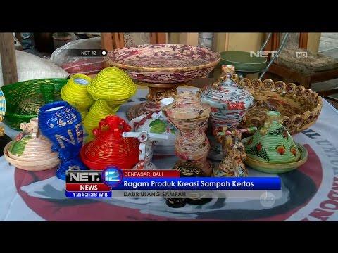 Inilah Kreasi Paper Recycle Bali - NET 12