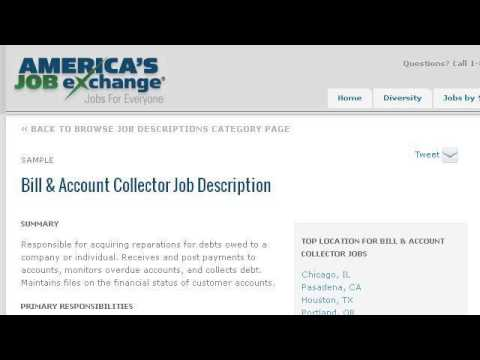Bill Collector Job Description  Collector Job Description