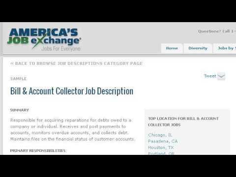 Bill Collector Job Description - YouTube - debt collector job description