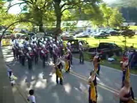 Swain County High School Marching Band Cherokee Parade 10-1-13 #2