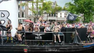 Amsterdam Canal Parade 2012 - Prinsegracht Amsterdam, 4 August - Boat 5: Mister B Leather & Rubber
